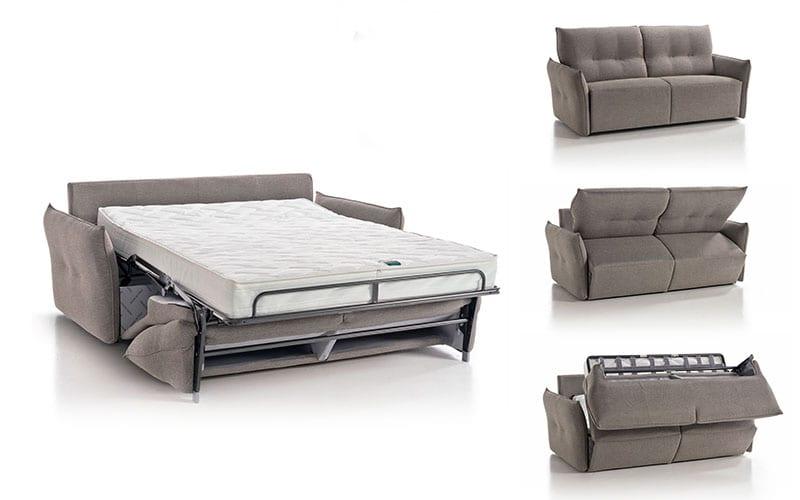Divani letto con materassi da 18 cm di rosini divani for Materassi x divano letto