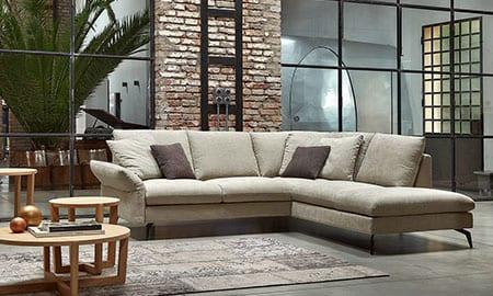 Salotti in tessuto di rosini divani for Foto di salotti arredati
